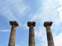 Rovine delle colonne antiche fotografie stock libere da diritti