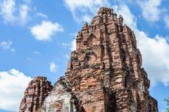 Rovine delle costruzioni storiche tailandesi immagine stock libera da diritti