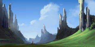 Rovine delle montagne royalty illustrazione gratis