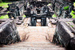 Rovine delle tempie antiche in Angkor Immagine Stock
