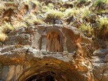 Rovine delle tempie di Cesarea di Filippo, il santuario della pentola in Israele Fotografia Stock Libera da Diritti