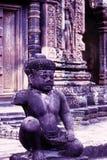 Rovine di Angkor Wat del tempiale di Banteay Srei, Cambogia Fotografia Stock