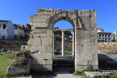 Rovine di Atene, agora antico, Grecia Immagini Stock