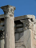 Rovine di Atene Grecia della biblioteca di Hadrian Immagini Stock