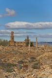 Rovine di Belchite Fotografia Stock