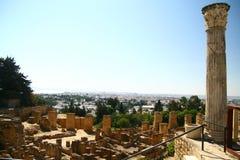 Rovine di Carthage Immagini Stock