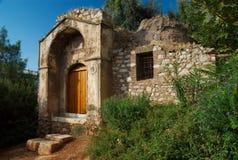 Rovine di costruzione greca, Atene, Grecia Fotografie Stock Libere da Diritti