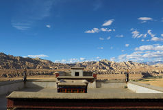 Rovine di dinastia del guge nel Tibet Fotografia Stock