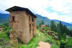 Rovine di Drukgyel Dzong Fotografia Stock Libera da Diritti
