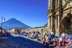 Rovine di EL Carmen, Antigua, Guatemala fotografia stock