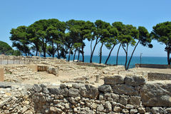 Rovine di Empuries Immagine Stock
