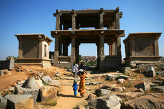 Rovine di Hampi, India Fotografie Stock