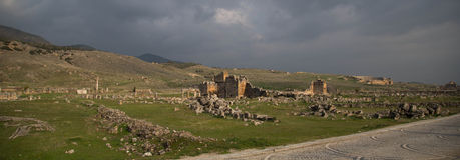 Rovine di Hierapolis Fotografia Stock