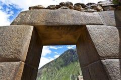 Rovine di inca di Ollantaytambo - valle sacra - il Perù Immagine Stock