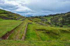 Rovine di inche di Chinchero, Perù Fotografia Stock Libera da Diritti