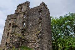 Rovine di Invergarry del castello in altopiani, Scozia Fotografia Stock Libera da Diritti