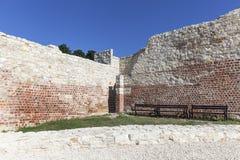 Rovine di Kazimierz Dolny Castle del XIV secolo, fortificazione difensiva, Polonia Immagini Stock Libere da Diritti