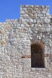 Rovine di Kazimierz Dolny Castle del XIV secolo, fortificazione difensiva, Polonia Immagini Stock