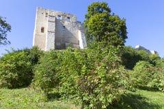 Rovine di Kazimierz Dolny Castle del XIV secolo, fortificazione difensiva, Polonia Fotografie Stock