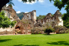 Rovine di La Recoleccion, chiesa immagine stock