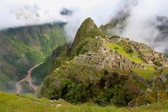 Rovine di Machu Picchu Fotografie Stock Libere da Diritti