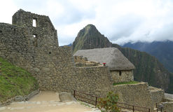 Rovine di Machu Picchu nel Perù Fotografie Stock Libere da Diritti