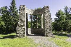 Rovine di MacKenzie King Estate Immagine Stock