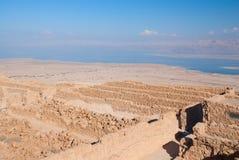 Rovine di Masada Fotografia Stock
