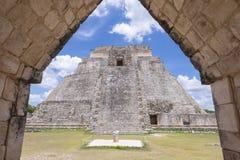 Rovine di maya di Uxmal Fotografie Stock