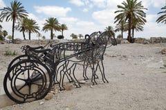 Rovine di Megiddo Immagine Stock