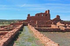 Rovine di missione del pueblo delle saline del Abo Fotografia Stock Libera da Diritti