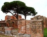 Rovine di Ostia Antica Fotografie Stock Libere da Diritti