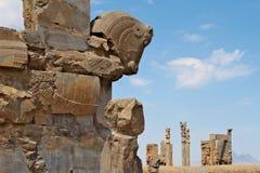 Rovine di Persepolis - capitale antica dell'impero persiano Immagini Stock Libere da Diritti