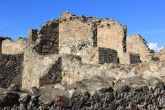 Rovine di Pompei Fotografia Stock