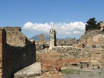 Rovine di Pompei Fotografia Stock Libera da Diritti