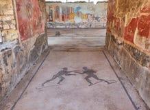 Rovine di Pompei, città romana antica Pompei, campania L'Italia immagine stock