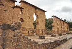 Rovine di Raqchi, Cuzco, Perù Fotografia Stock