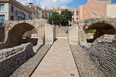 Rovine di Roman Circus a Tarragona, Spagna fotografie stock