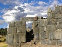 Rovine di Sacsayhuaman, Cuzco, Perù. Fotografie Stock