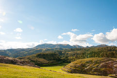 Rovine di Sacsaywaman in valle sacra, Perù Fotografia Stock