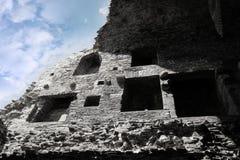 Rovine di sbriciolatura del castello del carrigafoyle interno Immagine Stock Libera da Diritti