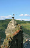 Rovine di Schoenburg del castello Immagine Stock