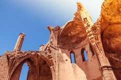 Rovine di St George della chiesa ortodossa medievale dei Greci Famagosta, Cipro Immagini Stock Libere da Diritti