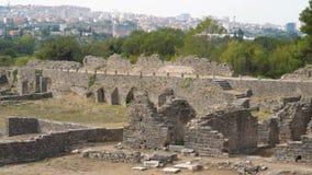 Rovine di stupore della città antica a partire dallo XVII secolo BC, Salona in Croazia archivi video