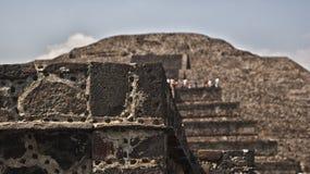 Rovine di Teotihuacan Fotografia Stock