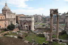 Rovine di tribuna romana Fotografie Stock