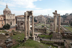 Rovine di tribuna romana Immagini Stock