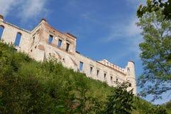 Rovine di un castello di Janowiec di rinascita nel voivodato di Lublino, Polonia immagine stock