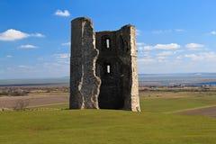 Rovine di un castello in Essex, Inghilterra di Hadleigh Immagini Stock