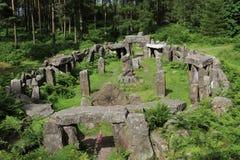 Rovine di un tempio dei druidi, North Yorkshire Fotografia Stock Libera da Diritti